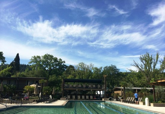 Calistoga Spa Hot Springs: Lap pool view.