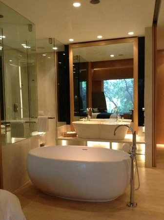 Dusit Devarana New Delhi : open bathroom