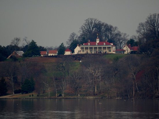 George Washington's Mount Vernon: View of the mansion from the Potomac