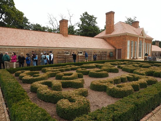 George Washington's Mount Vernon: The formal garden by the greenhouse