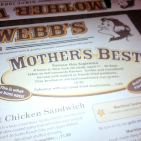 Mother Webb's Steakhouse: You always have to have the Mothers Best!