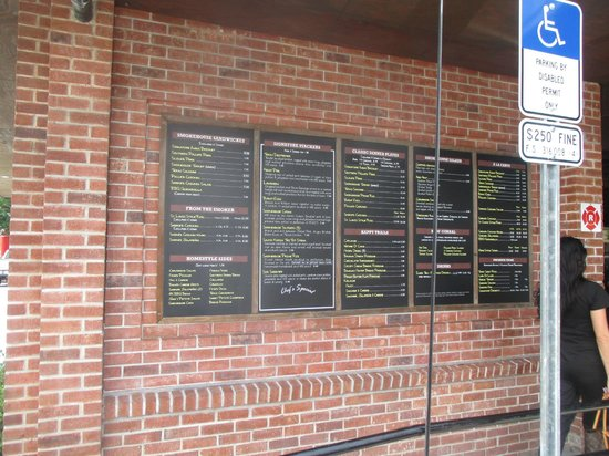 4 Rivers Smokehouse: Menu Outside