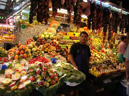 Mercado de Sant Josep de la Boqueria: Plaza de la Boqueria