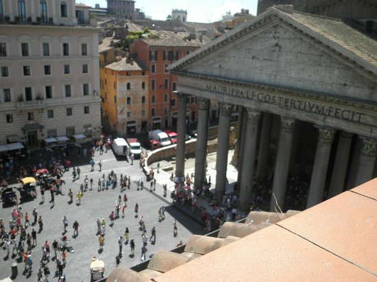 Pantheon Royal Suite: view from the balcony