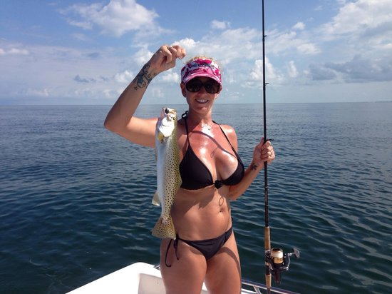 Marathon, FL: Melissa's first sea trout