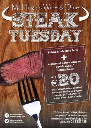 McHugh's Wine & Dine: Steak Tuesdays