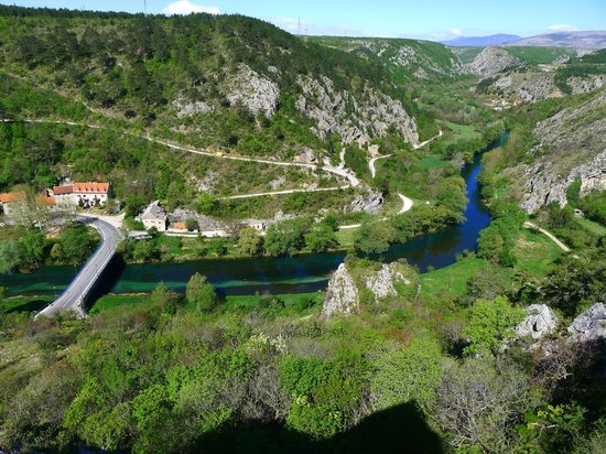 View from Knin fortress