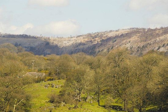 Beech Hill House: Whitbarrow Scar from room 3