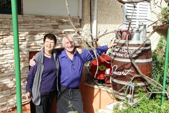 Arbel Guest House Shavit Family: Eingang zum Weinkeller und Schokomanufaktur m. Gastgebern