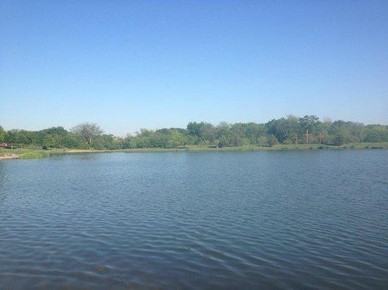 Fellowship Church: Lake behind the Church