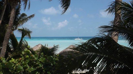 Na Balam Beach Hotel: Vue de rêve