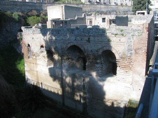 Ruins of Herculaneum: View from entrance