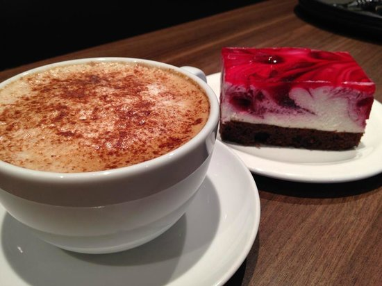 My Place: Cappuccino and delicious cake