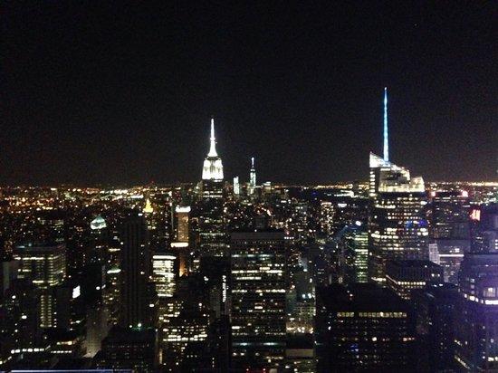 Plate-forme d'observation du GE Building : Night view