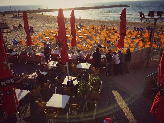 InterContinental David Tel Aviv: Beach bars walking distance (not even 1/2 a mile away)