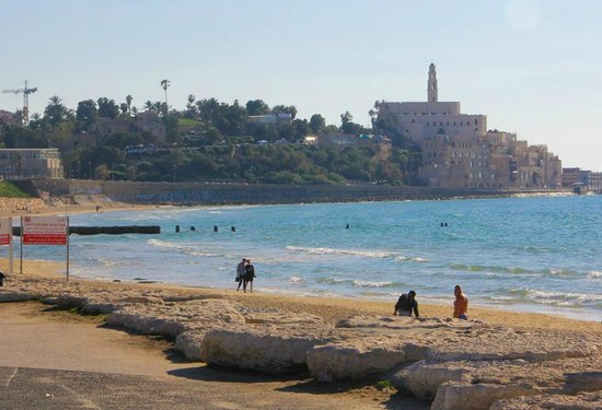 InterContinental David Tel Aviv: View of Jaffa from the beach in front of the hotel