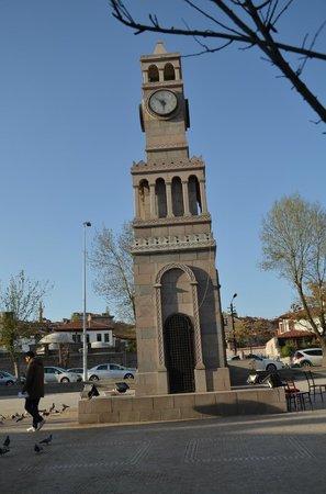 Hamamonu Restored Area: Hamamönü saatin bulunduğu meydan