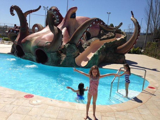 Aparthotel Rosa del Mar: Kids pools, slides zone