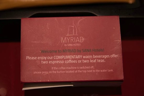 Myriad by SANA Hotels: tight with the coffee