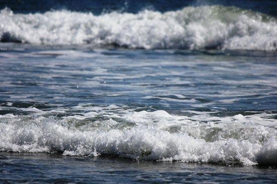 North Wildwood Beach: Waves crashing on the beach