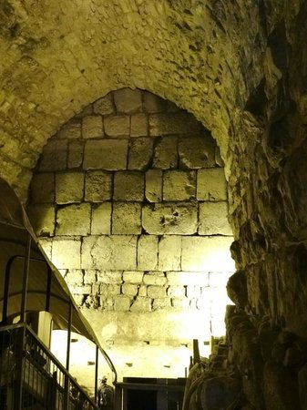 The Western Wall Tunnels: The ancient walls were covered by newer construction