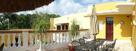 Hotel del Peregrino : Top floor rooms and outdoor area