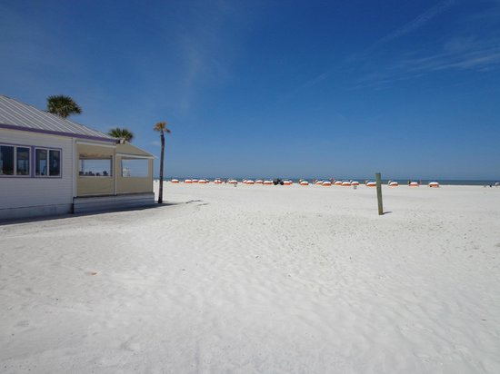 Palm Pavilion Inn: Beach pic from the north side of our Restaurant