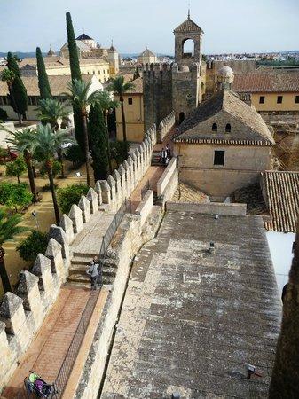 Alcazar de los Reyes Cristianos: Vue sur ville cathédrale