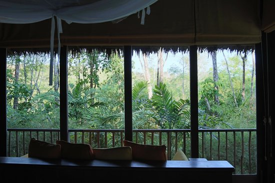 Six Senses Yao Noi: View from the foot of the bed in our Hideaway Villa