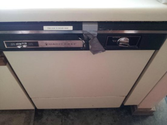 Chapel Hill InnTown: Duct tape to keep dishwasher closed