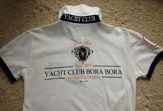 Bora Bora Yacht Club : Back of polo shirt