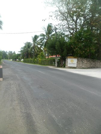 Crown Beach Resort & Spa: outside of resort from across the road