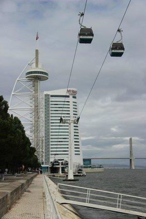 Vasco da Gama Bridge : puente, torre y teleferico