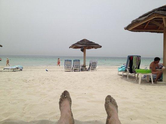 Kempinski Hotel Ajman: Flott strand.