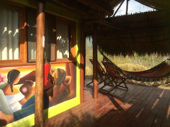 Hacienda Puerta Del Cielo Eco Spa: private sit out