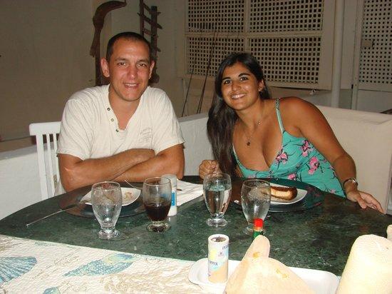 Posada Mediterraneo: Cena en la terraza