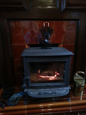 Kyle House: Lovely warm wood burning stove in the reception