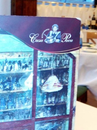 Casa Paca Restaurante: Carta