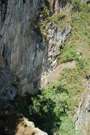 Inca Bridge on Sheer Rock Face