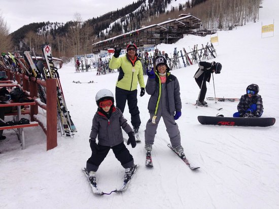 Wife and kids at Sunlight Mountain Resort