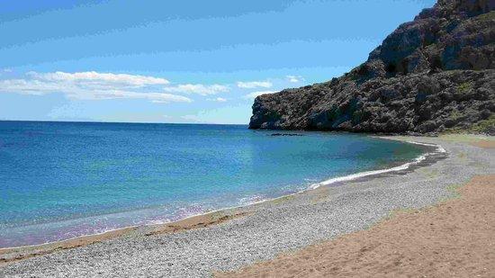 Atlantica Club Aegean Blue: Beach near the hotel