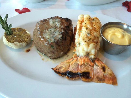 Ocean Prime - Tampa: 10 ounce filet and lobster tail
