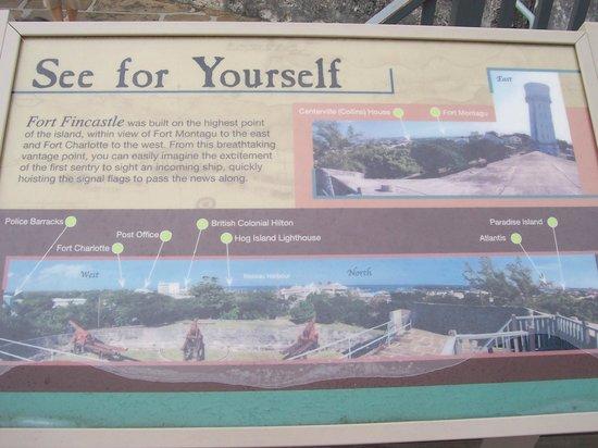 Fort Fincastle: Orientation sign