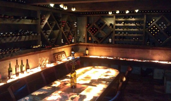 Satay Bistro: The underground wine room. Great for private events!