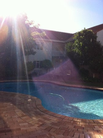 First Avenue Guesthouse : Early evening by the pool