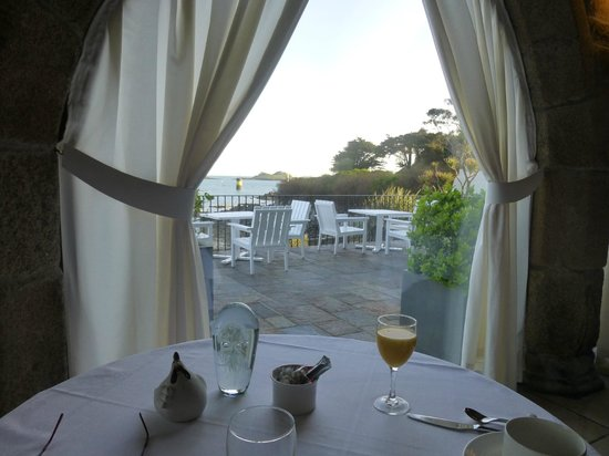Hôtel Brittany & Spa : View from dining area