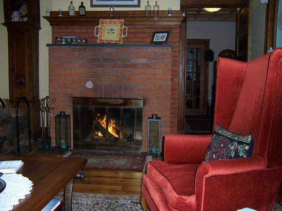 Haven Guest House Bed & Breakfast: Sit by the fire on a cold winter day
