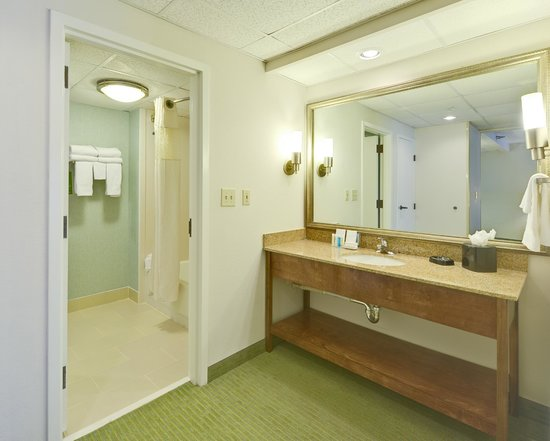Hampton Inn & Suites Wilmington/Wrightsville Beach: Guest bath in suite