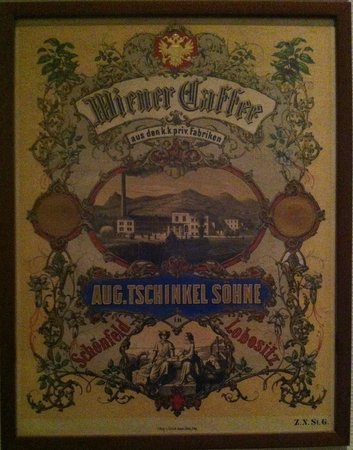 Museum of Decorative Arts in Prague : A poster ad for a Viennese coffee brand