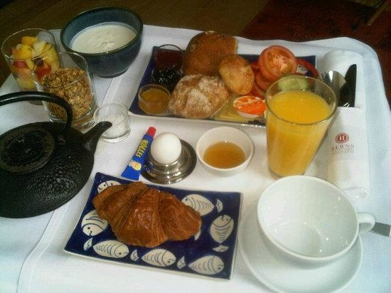Berns Hotel: Room service - breakfast